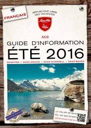 Guide d'information été 2016