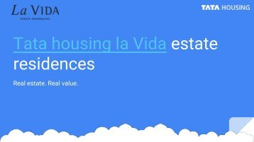 tata housing new launch la vida estate residences 113 dwarka expressway