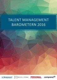TALENT MANAGEMENT BAROMETERN 2016