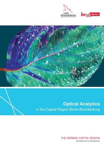 Optical Analytics in the Capital Region Berlin-Brandenburg