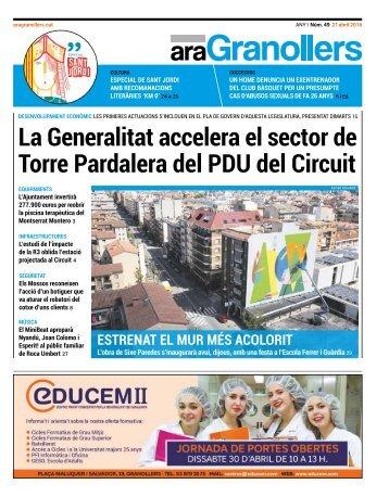 La Generalitat accelera el sector de Torre Pardalera del PDU del Circuit