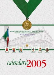 Nastro Verde: calendario 2005