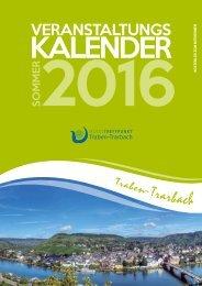 Veranstaltungskalender Traben-Trarbach Sommer 2016