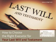 How to Choose the Right Executor for your Last Will and Testament