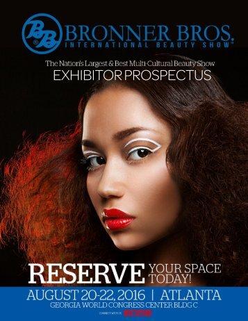 2016 August Exhibitor Prospectus