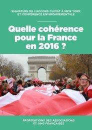 Quelle cohérence pour la France en 2016 ?