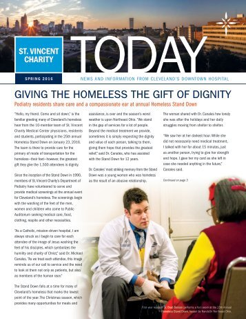 GIVING THE HOMELESS THE GIFT OF DIGNITY