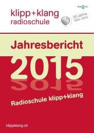 Jahresbericht 2015 Radioschule klipp+klang