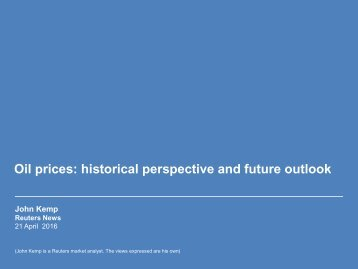 Oil prices historical perspective and future outlook