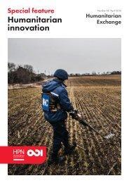 Humanitarian innovation