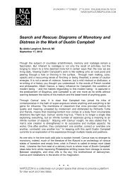 Search and Rescue: Diagrams of Monotony and Distress in the Work of Dustin Campbell