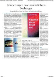 Artikel im Wochenblatt, Autor Herbert Bohlender