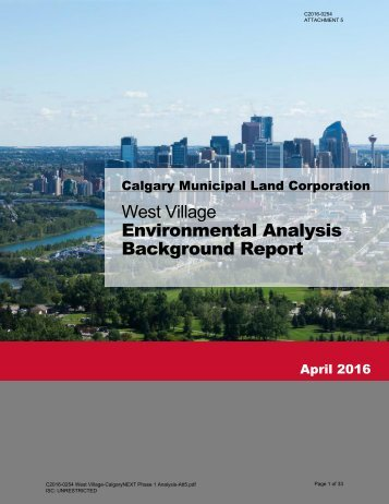 West Village Environmental Analysis Background Report