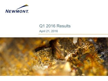 Q1 2016 Results