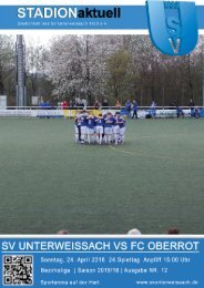 SV Unterweissach - FC Oberrot