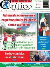 Administración errónea en petroquímica Pajaritos causa explosión