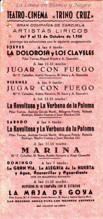 1958-10-09 Gran Compañia de Zarzuela - La Dolorosa