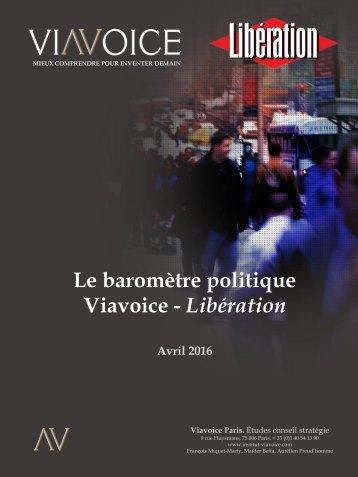 Le baromètre politique Viavoice - Libération
