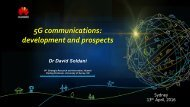 5G communications development and prospects