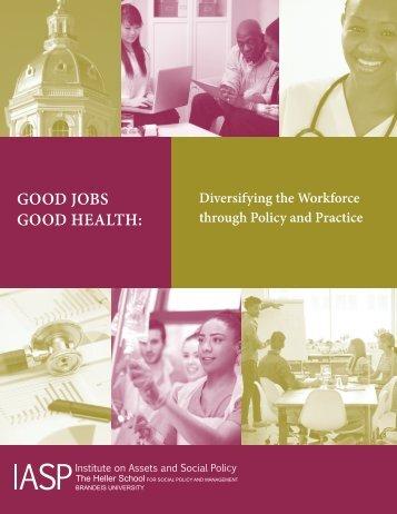 GOOD JOBS GOOD HEALTH
