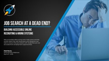 Job search at a dead end?