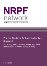 Practice Guidance for Local Authorities (England)