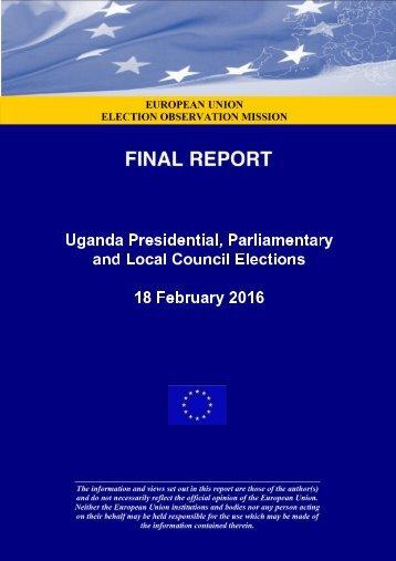 UgandaPresidential,Parliamentary andLocalCouncilElections 18February2016