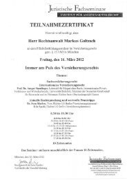 2012 - Versicherungsrecht Hamburg