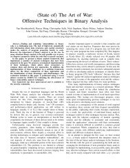 (State of) The Art of War Offensive Techniques in Binary Analysis