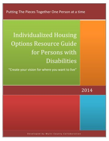 disabilities physical housing resources