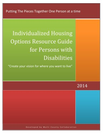 Individualized Housing Options Resource Guide for Persons with Disabilities