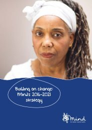 Building on change Mind's 2016-2021 strategy