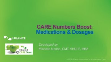 Numbers Boost- Medications