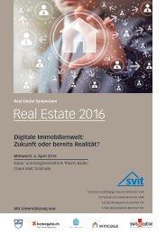 Real Estate Symposium der SVIT (Schweizerischer Verband der Immobilienwirtschaft)