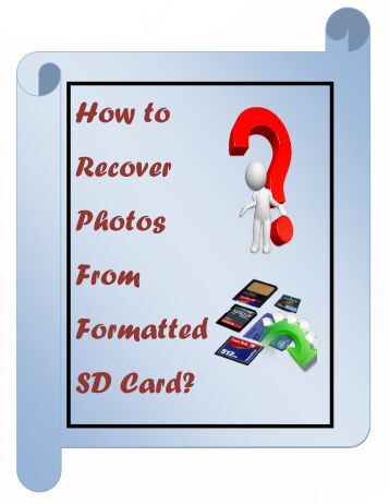 How to Recover Photos From Formatted SD Card?