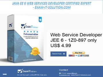 Java EE 6 Web Services Developer Certified Expert - Exam-It-Solution.com