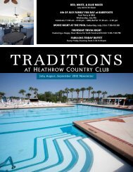 Traditions - Heathrow Country Club