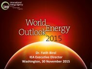 Dr Fatih Birol IEA Executive Director Washington 30 November 2015