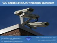 CCTV Installation Dorset, CCTV Installations Bournemouth  | Dorset Electrical Solutions