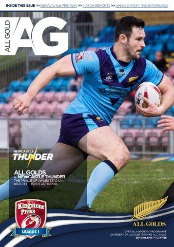 All Golds v Newcastle Thunder KPL1 2016 - FINAL