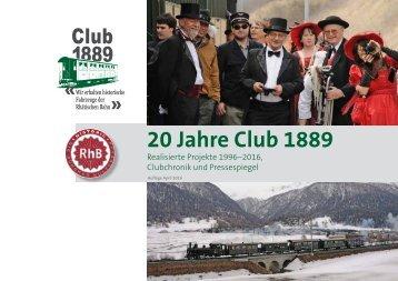 20 Jahre Club 1889