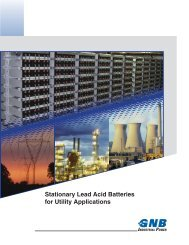 Stationary Lead Acid Batteries for Utility Applications Section