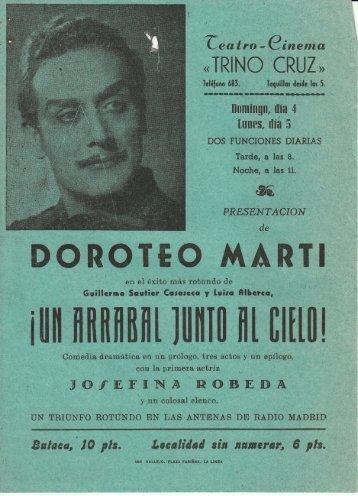 Doroteo Marti - Un Arrabal junto al Cielo