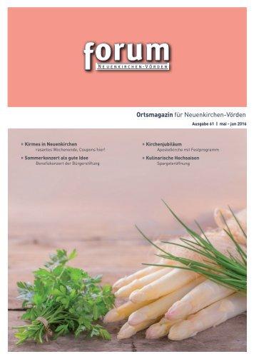 forum 61, mai-jun 2016