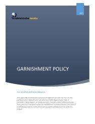 GARNISHMENT POLICY