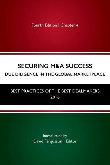 SECURING M&A SUCCESS