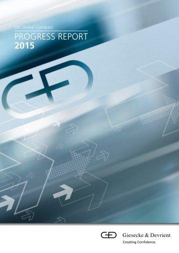 PROGRESS REPORT 2015