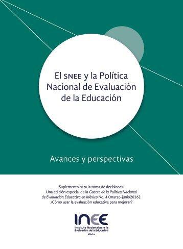 El snee y la Política Nacional de Evaluación de la Educación