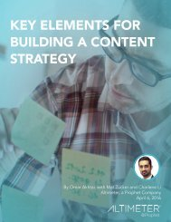 KEY ELEMENTS FOR BUILDING A CONTENT STRATEGY