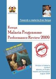 Towards a malaria-free Kenya Division of Malaria Control ... - KeNAAM